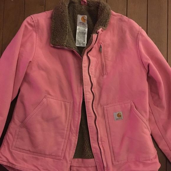 Carhartt Jackets Coats Carhart Womens Jacket Pink Poshmark
